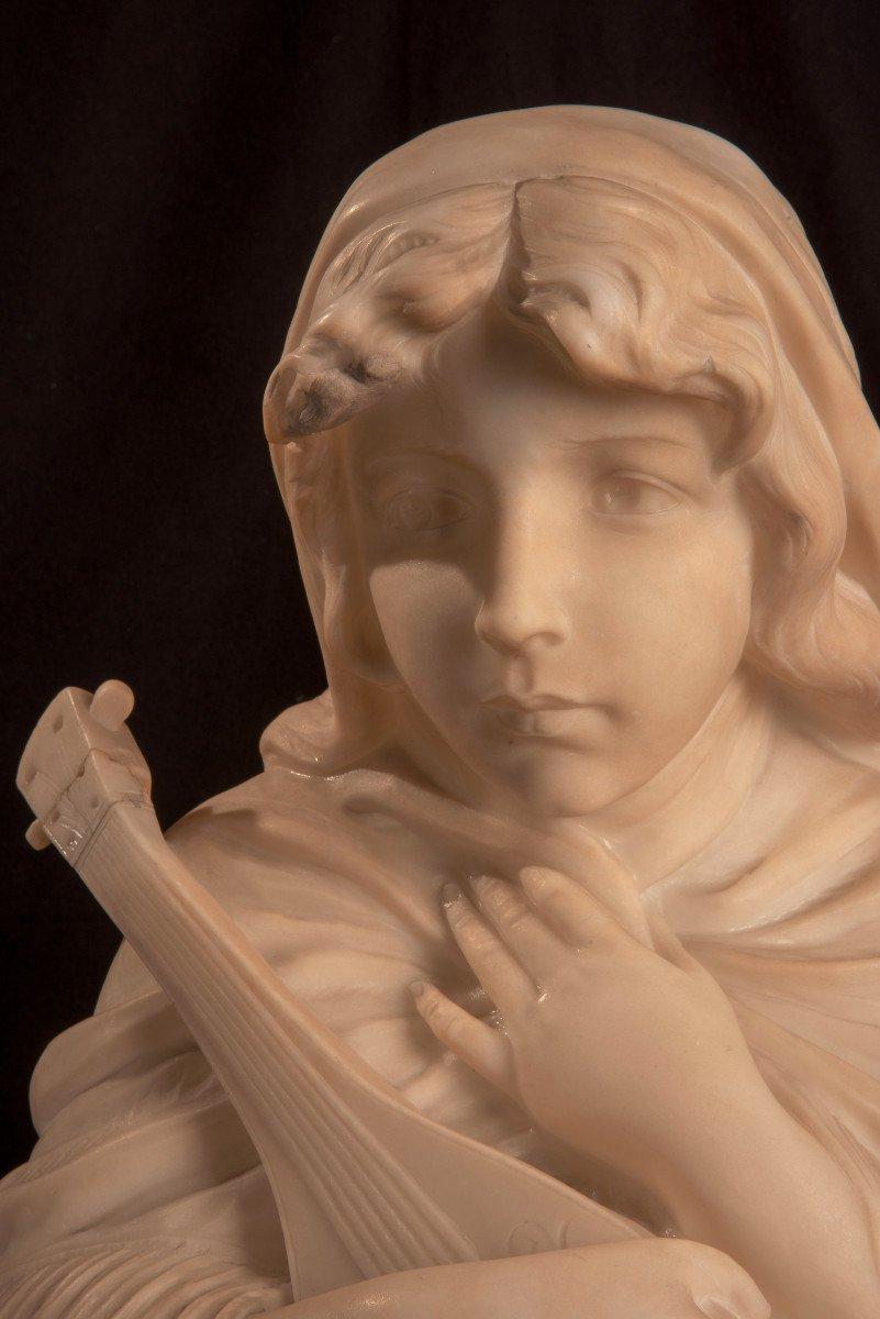 Art Nouveau. Buste De Jeune Femme. Gustave Van Vaerenbergh-photo-1