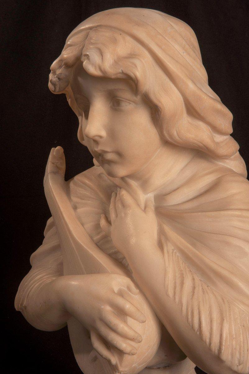 Art Nouveau. Buste De Jeune Femme. Gustave Van Vaerenbergh-photo-3