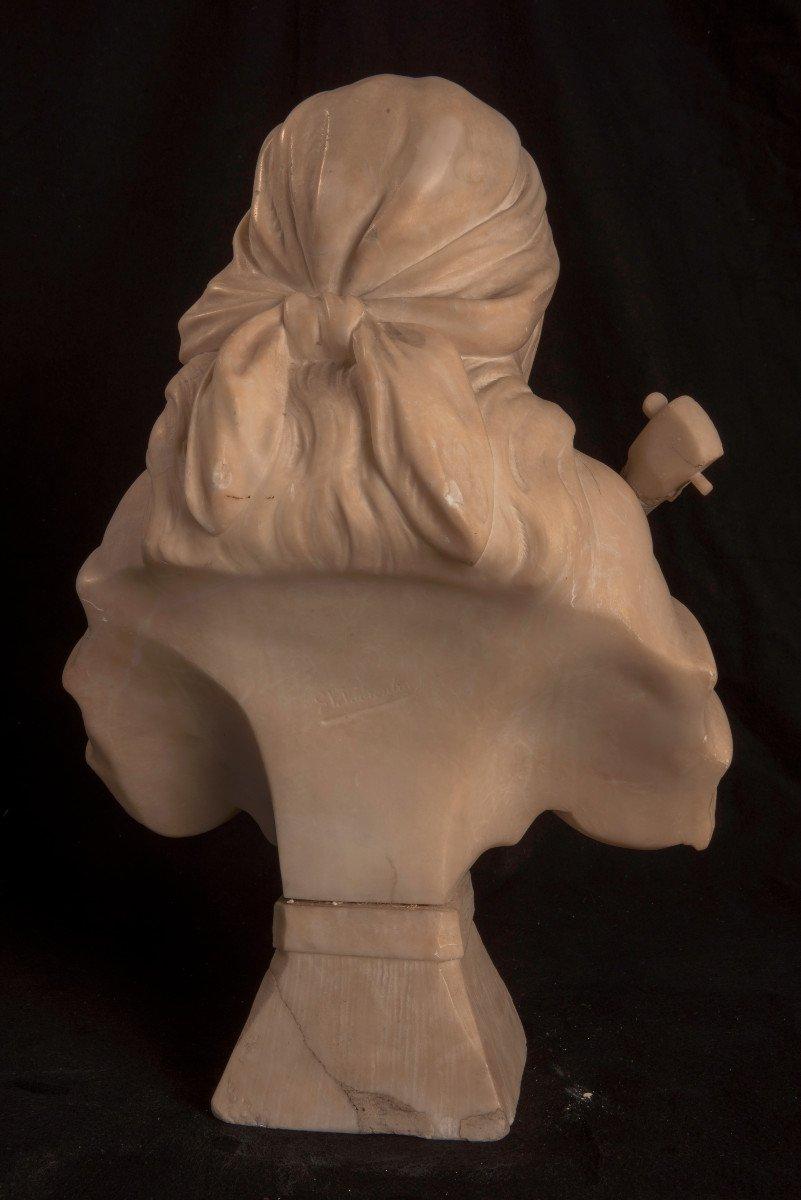 Art Nouveau. Buste De Jeune Femme. Gustave Van Vaerenbergh-photo-4