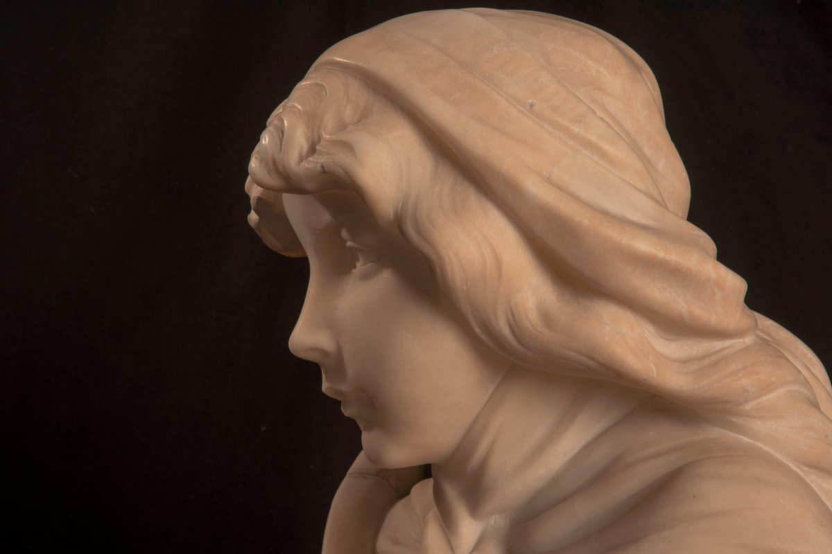 Art Nouveau. Buste De Jeune Femme. Gustave Van Vaerenbergh