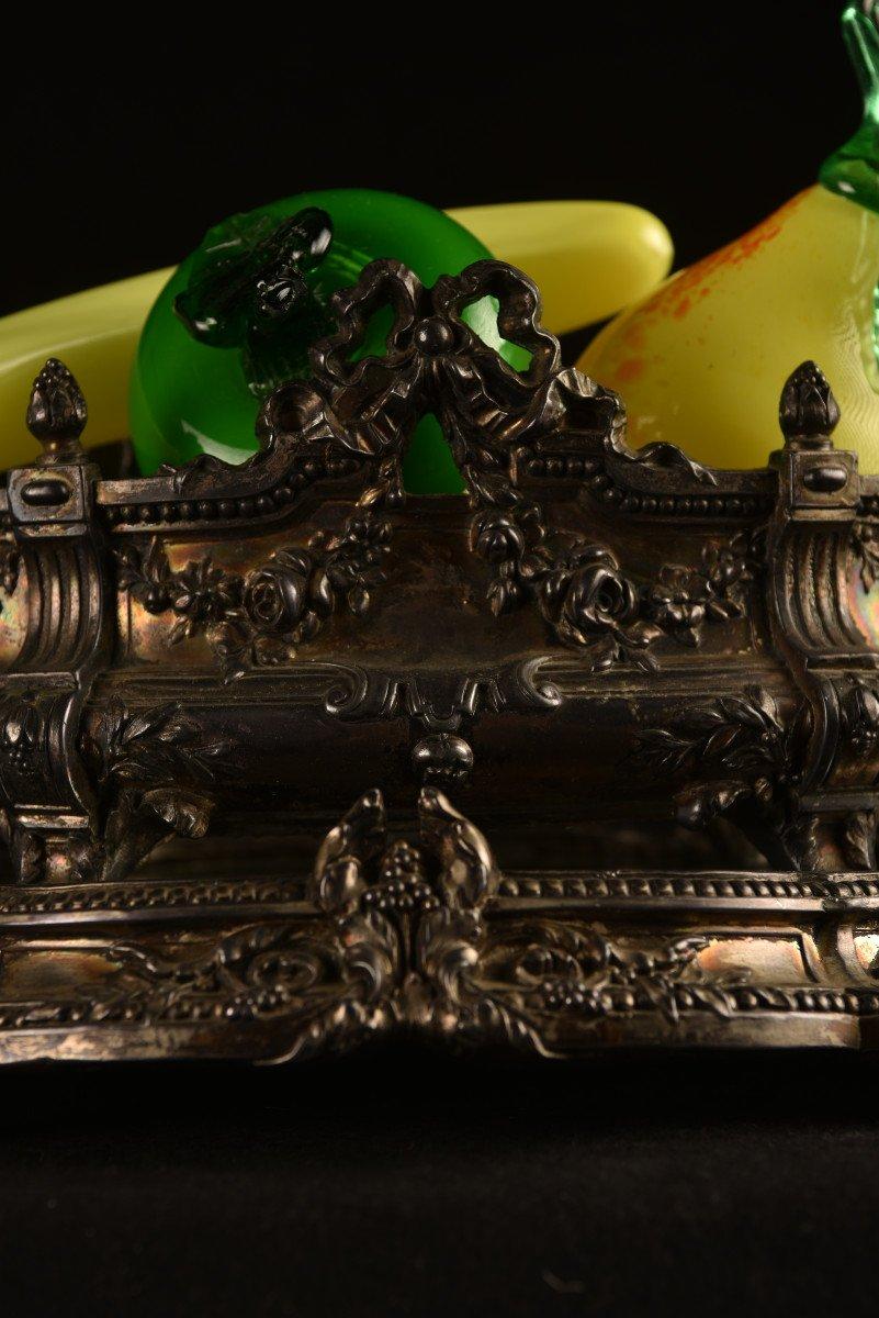Centre De Table En Bronze Argenté. Epoque Napoléon III.-photo-8