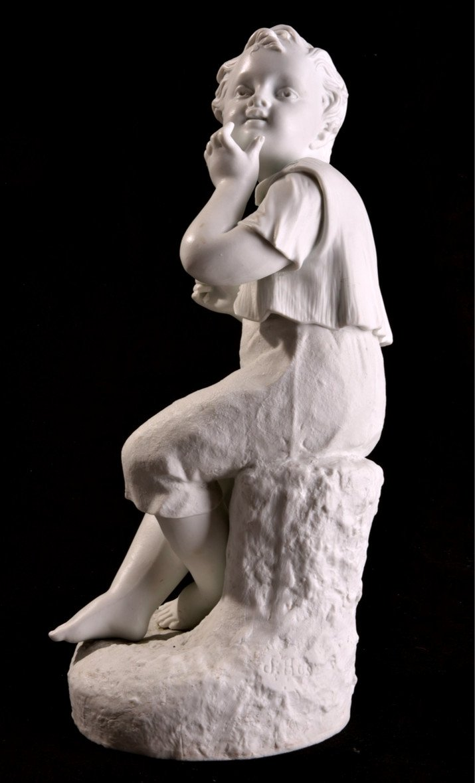 Deux Sculptures En Biscuit Signées. Napoléon III.-photo-2