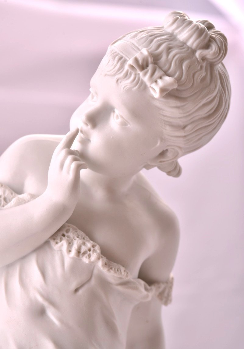 Deux Sculptures En Biscuit Signées. Napoléon III.-photo-6