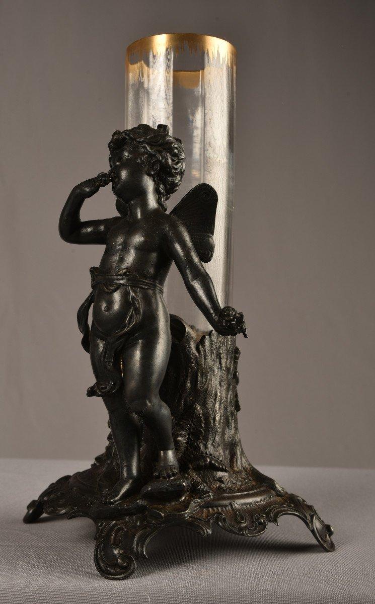 Vase Art Nouveau  Régule Et Cristal. Jugendstil. 1900.-photo-2
