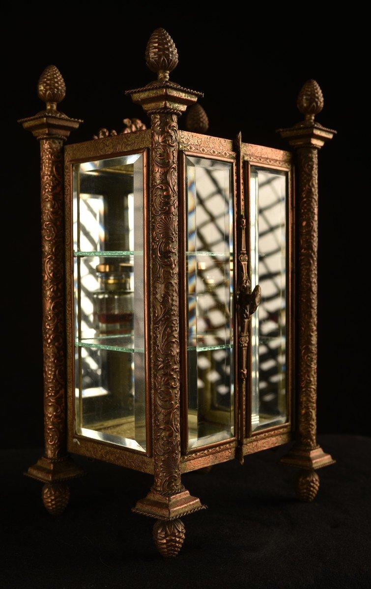 Vitrine Miniature Aux Verres Biseautés. 1880.-photo-5