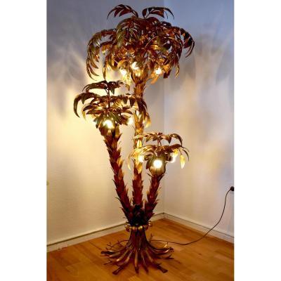Designer Hans Kögl. Floor Lamp Trois Palmiers.