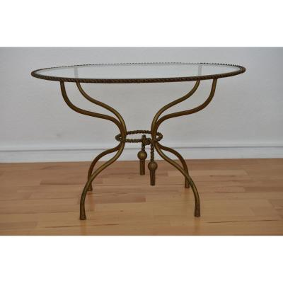 Brass Twisted Brass Table.