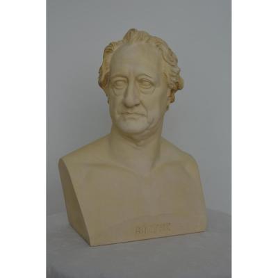 Buste grandeur nature de Goethe.Projet de Rauch.