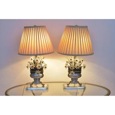 Pair Of Lamps. House Style Rings. Years 50-60.