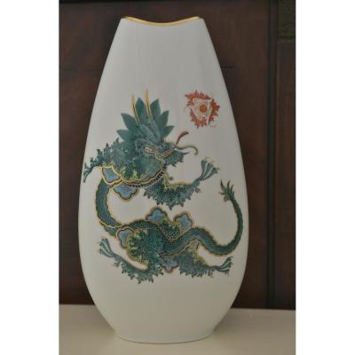 Vase Au Dragon Ming Chinois.rosenthal Années 50