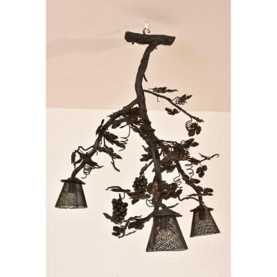 Lampe Pied De Vigne. Art Déco 1930.