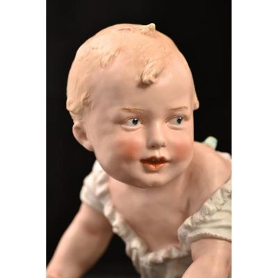Piano Baby. Heubach. Bébé De Piano. 1900. 30cm.
