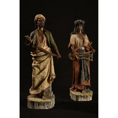 Terracotta. Couple Of Orientals. Germany.