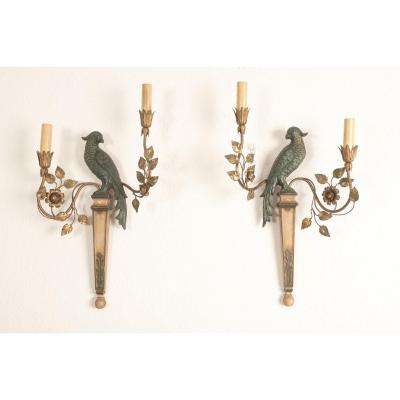 Palladio. Italy. Sconces Aux Parrots 1960