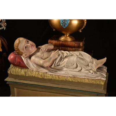 Enfant Jésus En Terre Cuite. XIXème.