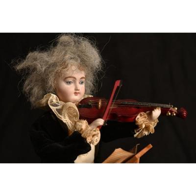 Reuge Automaton. Violinist In Biscuit. Mozart. Schubert.
