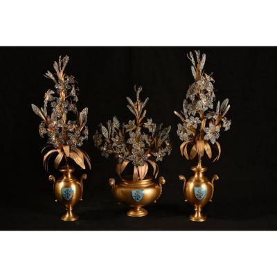 Gilt Bronze Altar Ornaments. Nap III.