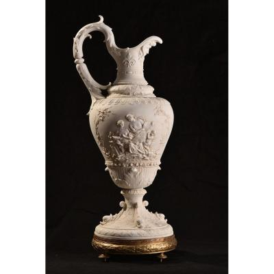 Biscuit, Ewer. Allegory Of Painting. 1900