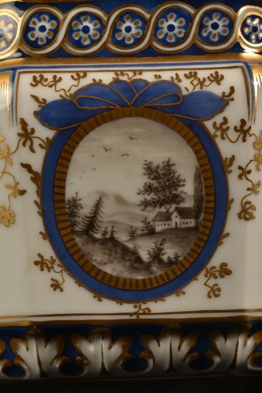 Nymphenburg. Bayerisches Königsservice. Terrine En Porcelaine. XXème.-photo-3