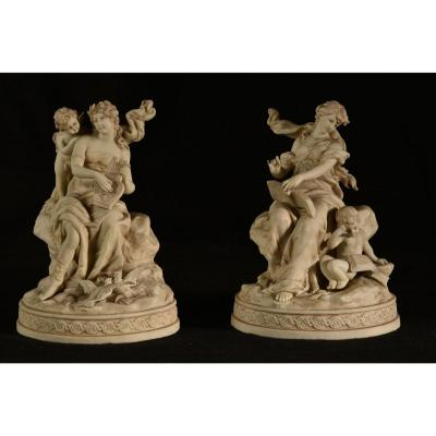 Biscuit Subjects. 19th Century Germany. Allegory.