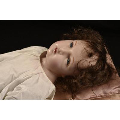 Wax Sculpture. Baby Jesus.