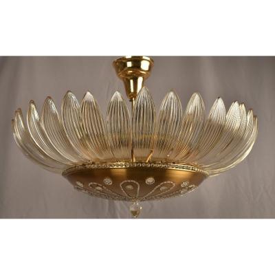 Lustre En Cristal. Design Des Années 50. Style Maison Baguès.