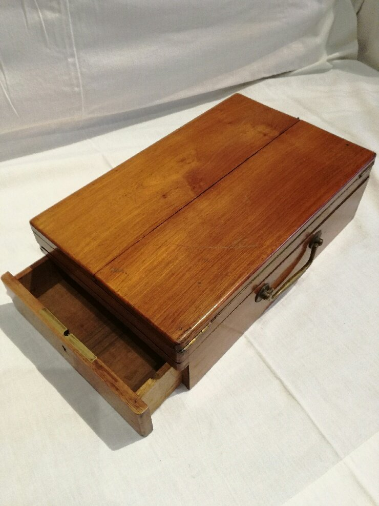 Writing Box, Mahogany, 19th C.