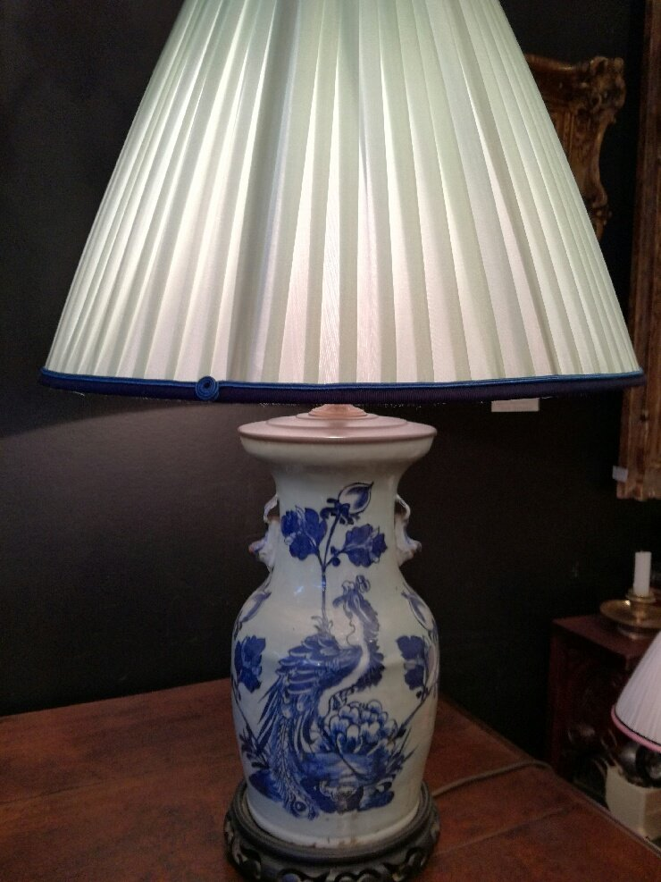 19th Chinese Vase, Mounted As A Lamp