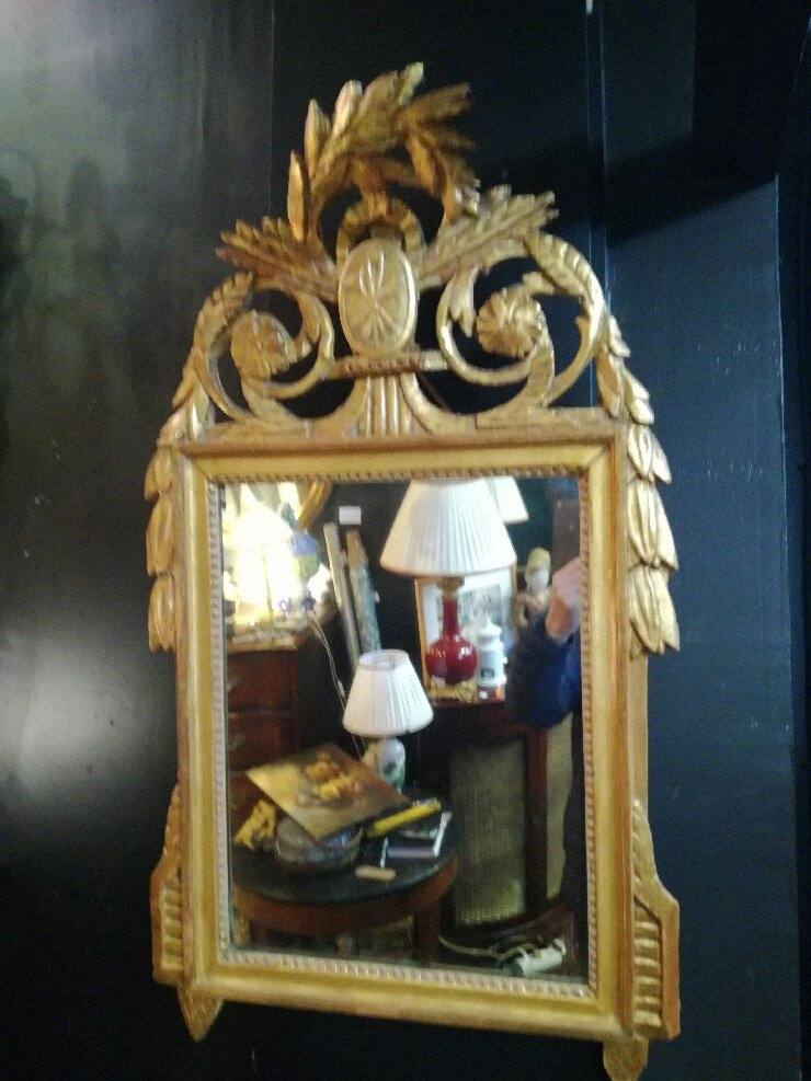 Louis XVI Mirror In Golden Wood, 18th Century