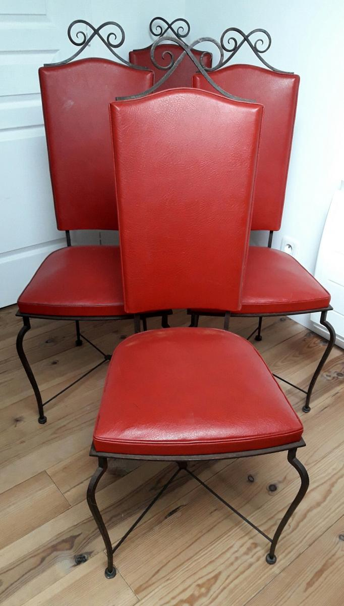 Set Of 4 Chairs - 40's