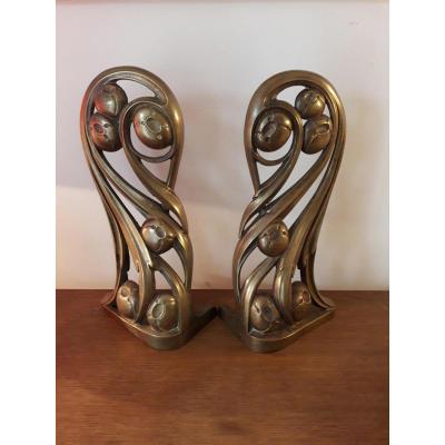 Pair Of Bronzes - Louis Majorelle