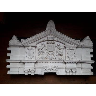 Bas-relief XIXe - Projet d'Architecture Bordelais