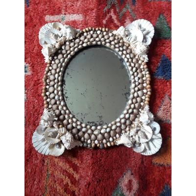Miroir Coquillages Ancien