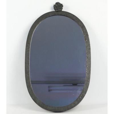 Miroir Fer Forge Ovale