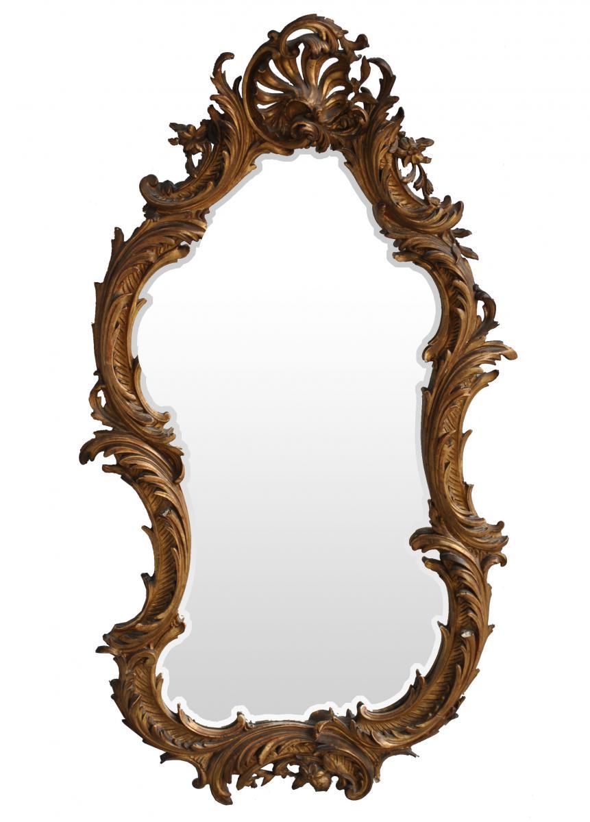 Mirror In Gilded Stucco Rockery XIXth
