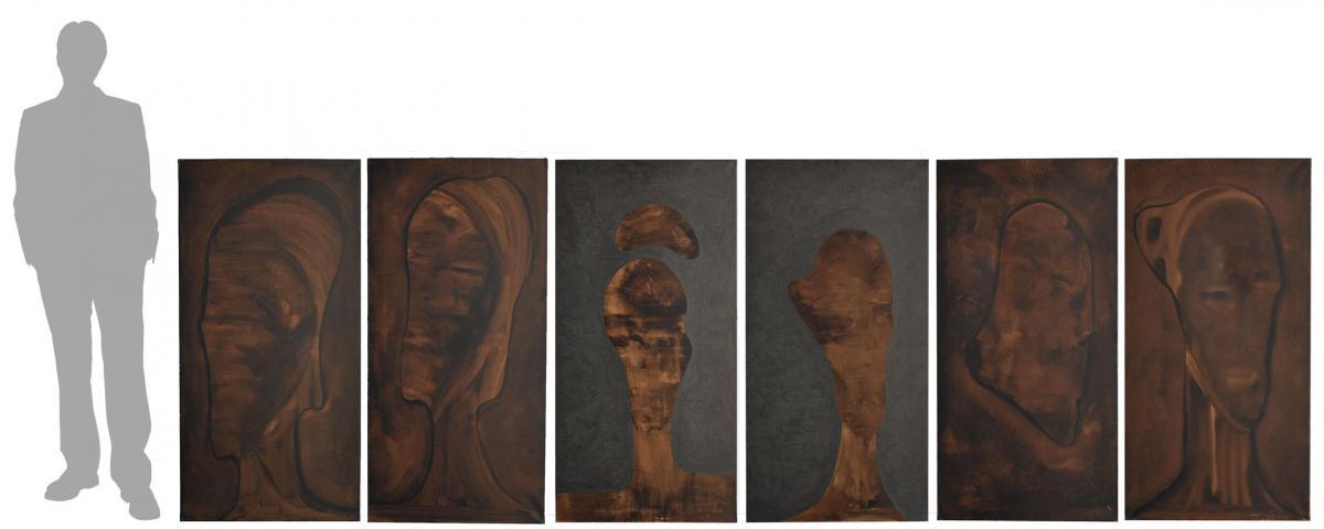 Série De 6 Huiles Par l'Artiste Italien Sebastiano Fini (1949-2003)
