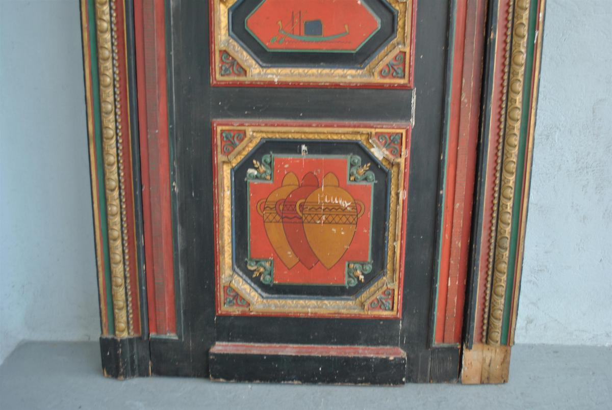 Porte ma onnnique peinte egyptomania d but xx me for Porte 4 marseille