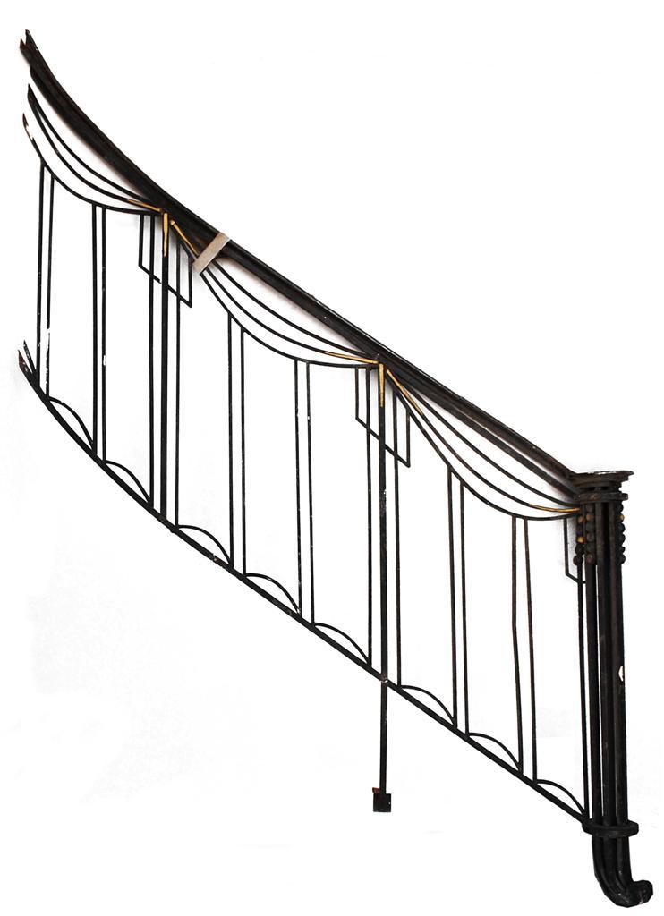 D part de rampe d 39 escalier en fer forg art d co 1930 escaliers rampes - Hauteur rampe d escalier ...