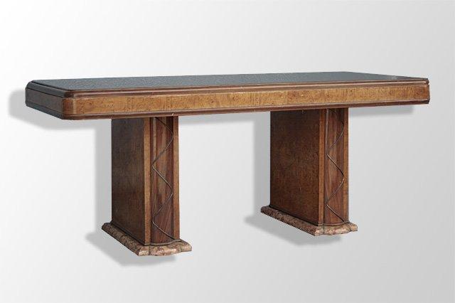 Table 1950 pi tement en marbre br che tables salle manger for Salle a manger 1950