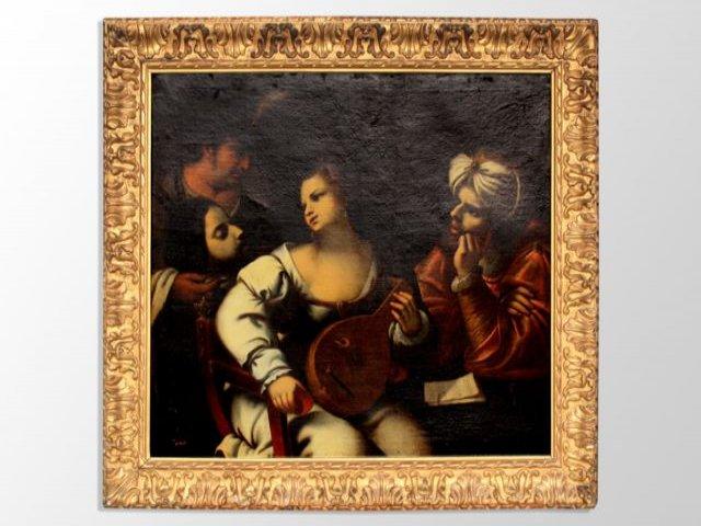 Oil On Canvas Italian Pietro Della Vecchia Eighteenth Bible Says Pietro Muttoni