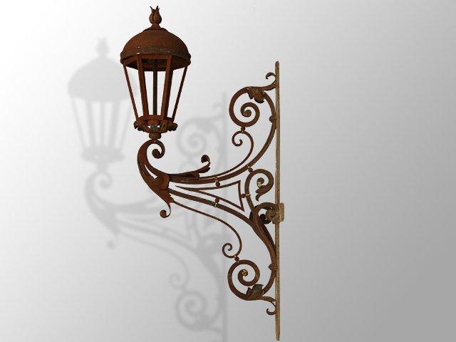 lanterne en fer forg de style r gence vitraux ferronnerie pierre. Black Bedroom Furniture Sets. Home Design Ideas