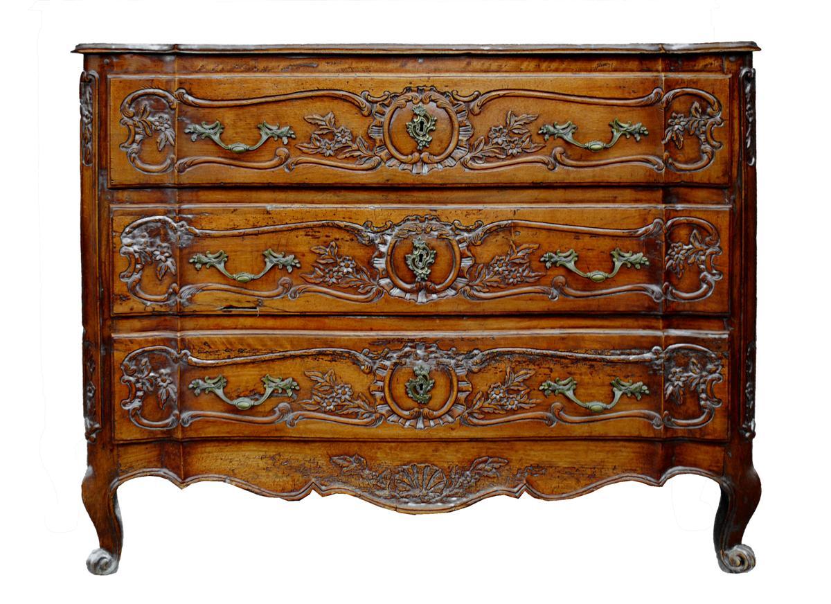 Commode Arbalète Provençale Noyer époque XVIIIème