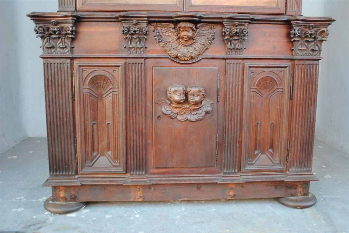 grand meuble de sacristie en ch ne compos d l ments anciens buffets enfilades. Black Bedroom Furniture Sets. Home Design Ideas