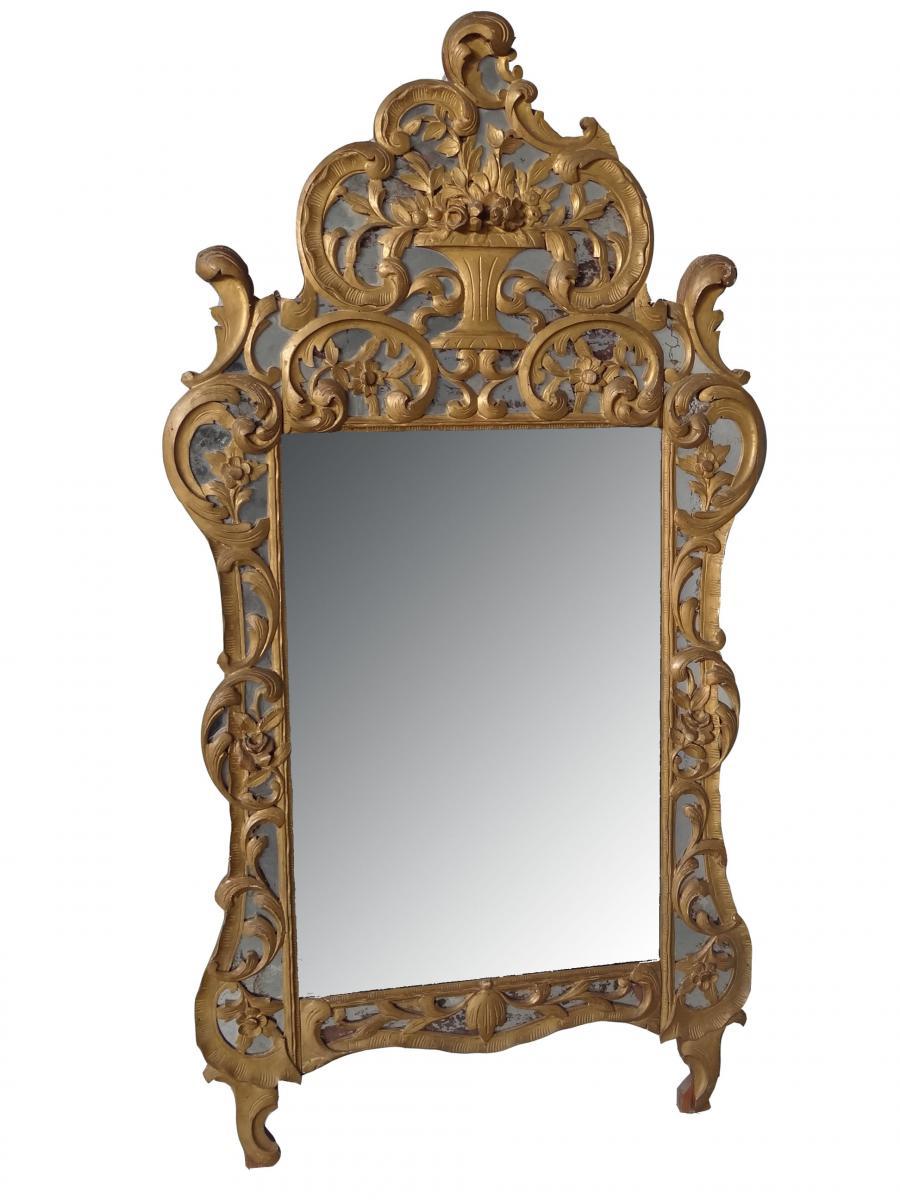 Miroir De Beaucaire , Provençal Bois Doré  ép  XIXème