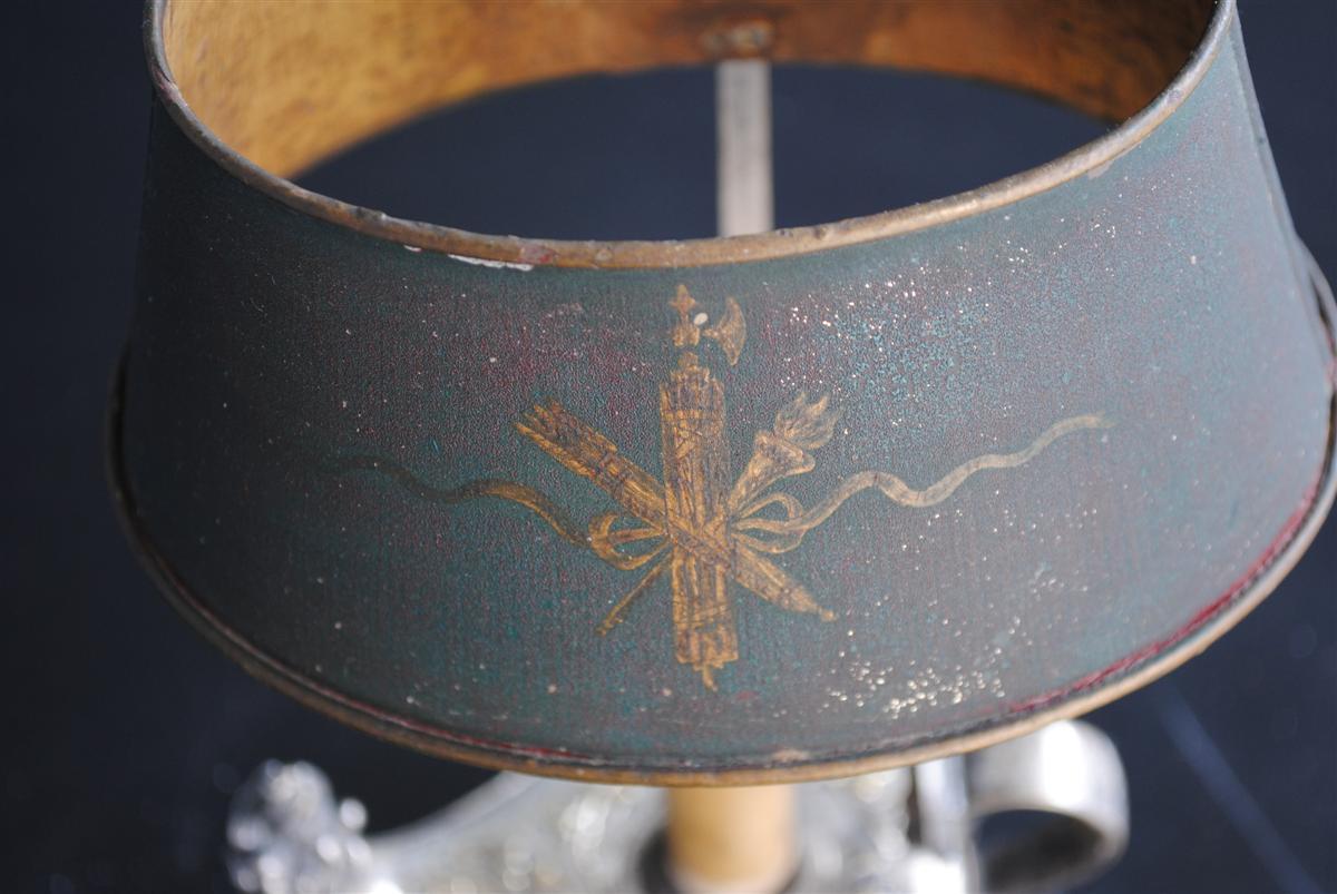Lampe Bouillotte De Style Empire époque XIXème Métal Argenté-photo-1