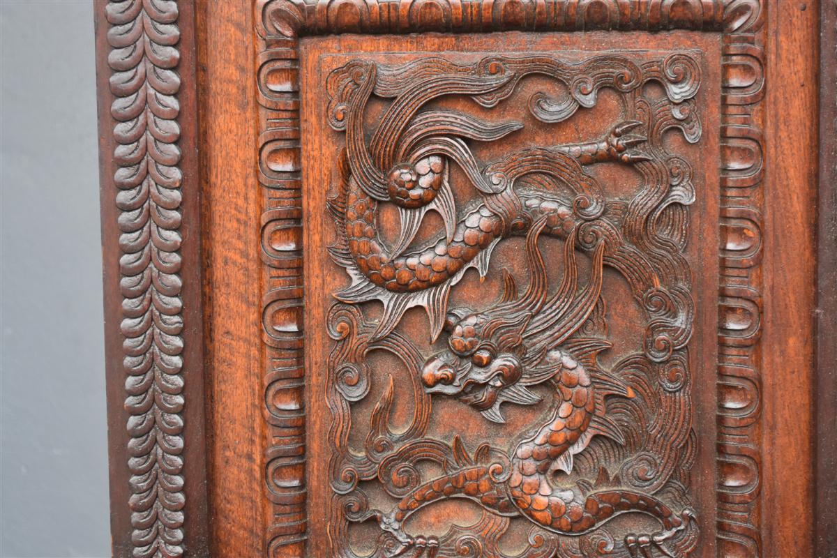 Paire De Fauteuil Asiatique Palissandre époque XIXème-photo-2