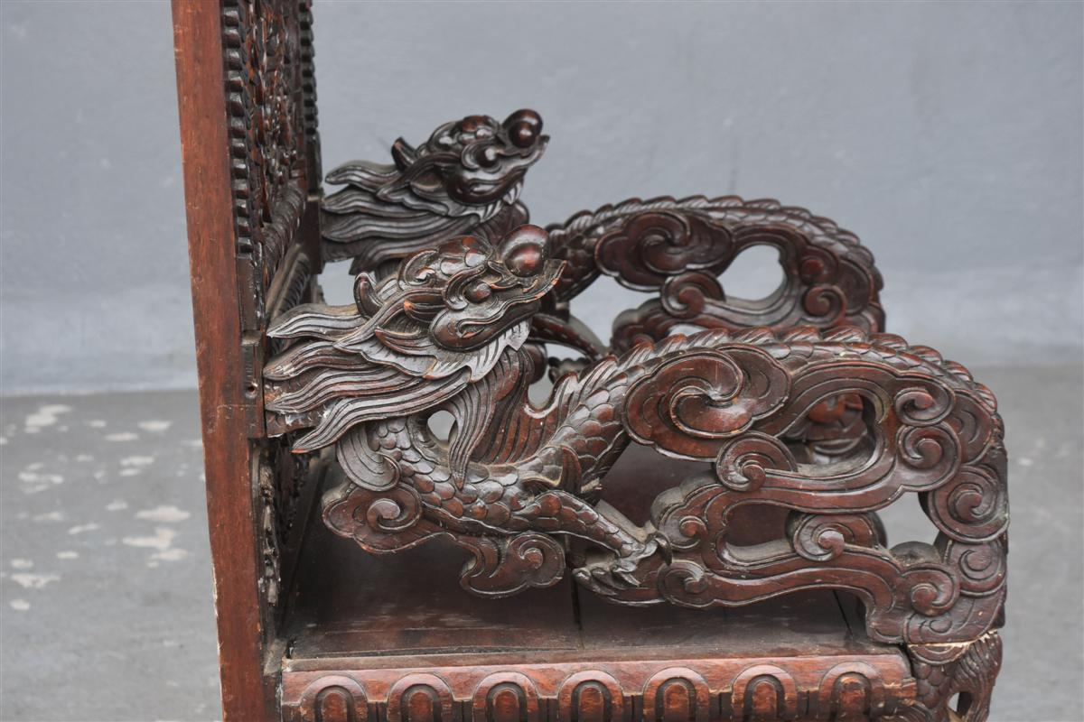 Paire De Fauteuil Asiatique Palissandre époque XIXème-photo-5