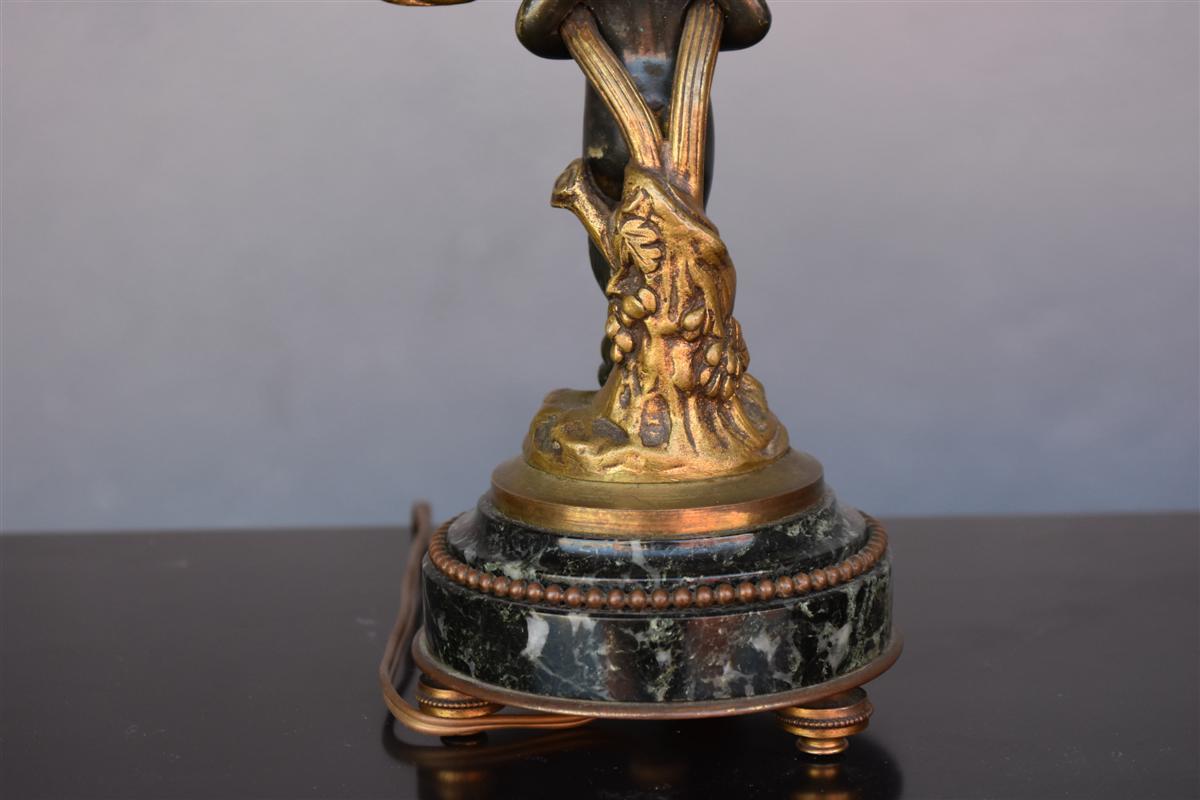 Bougeoir De Style Louis XVI En Bronze Doré Et Patine-photo-3