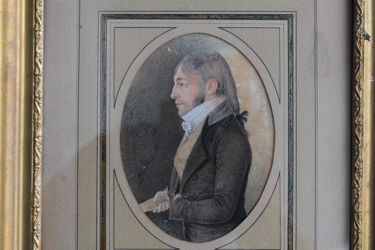 Portrait d'époque Début XIXème Dessin -photo-2