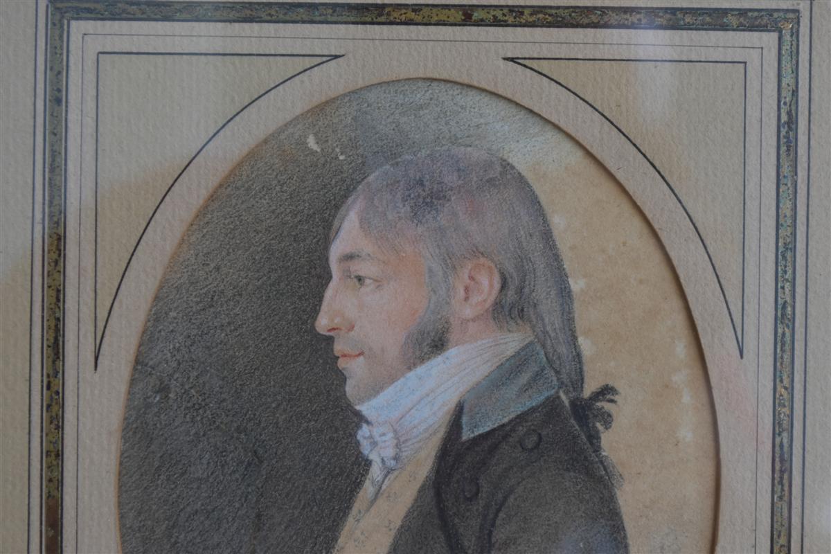Portrait d'époque Début XIXème Dessin -photo-3